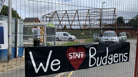 The Budgens site in Holt following the fire earlier this year. Picture: Stuart Anderson