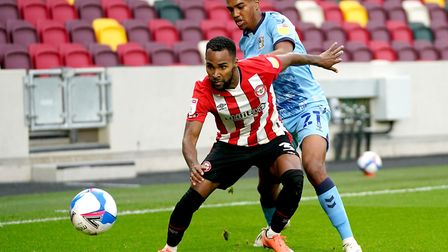 Sam McCallum featured in Coventry City's defeat to Brentford on Saturday. Picture: John Walton/PA Im
