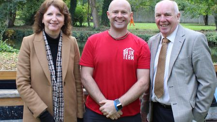 (From left to right) Roz Barnett, deputy town clerk, Paul Norris aka Chuck from Bush Adventures, and
