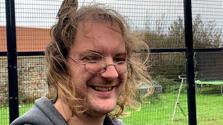 David Carr, co manager at Wild Touch in Ridlington, inside the aviary. Picture: Stuart Anderson