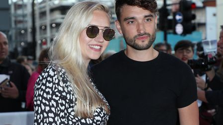 The Wanted star Tom Parker with his wife Kelsey Hardwick. Tom was diagnosed with a brain tumour whic