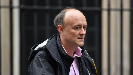 Dominic Cummings leaves 10 Downing Street, London. PA Photo. Picture date: Tuesday October 29, 2019
