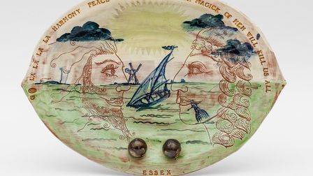 An early ceamic piece by Grayson Perry called Essex Plate. Picture: Grayson Perry/Victoria Miro/Josh