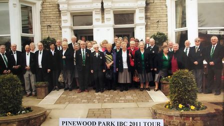 Indoor bowlers of who took part in a Pinewood Park Indoor Bowls tour of 2011. The club later became