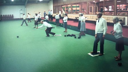 Bowling in full swing at Pinewood Park Indoor Bowls in Holt Road, Upper Sheringham. It later became