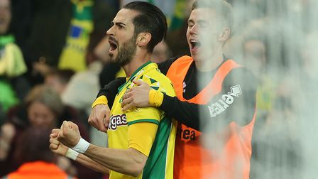 Vrancic celebrates his late winner against Sheffield Wednesday. Picture: Paul Chesterton/Focus Image