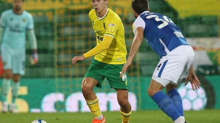 Todd Cantwell played a starring role as Norwich City beat Birmingham at Carrow Road Picture: Paul C