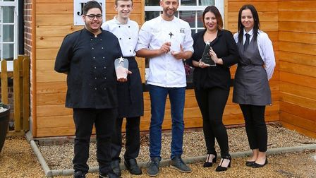 The team from the Kings Arms in Fleggburgh which has been named business of the year at the Spirit o