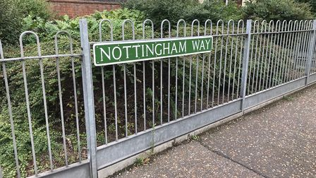 Nottingham Way is one residential street which saw high levels of reported crime between April and A