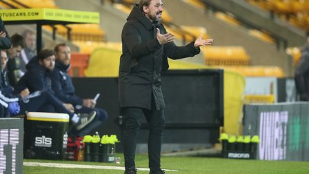Norwich Head Coach Daniel Farke reacts during the Sky Bet Championship match at Carrow Road, Norwich