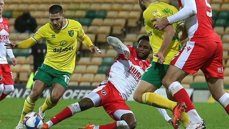 Emi Buendia was frustrated by Millwall in Norwich City's goalless midweek Championship draw Picture: