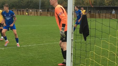 Bury Town's young keeper Joe Rose was man-of-the-match during a 1-0 defeat at Loughborough Dynamo in