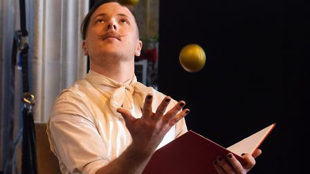 Matthew Green during the Lost in Translation rehearsals of Circus Carol. Picture: DENISE BRADLEY