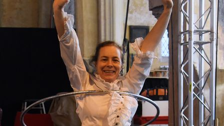 Annabel Carberry during the Lost in Translation rehearsals of Circus Carol. Picture: DENISE BRADLEY