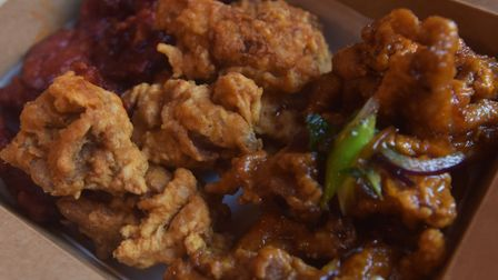 The Kimchi's Korean Fried Chicken, its version of KFC, which is available to takeaway Pictures: BRIT