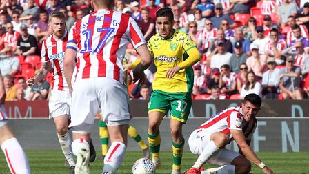 Norwich City's last visit to Stoke was memorable in the title winning season Picture: Paul Chesterto