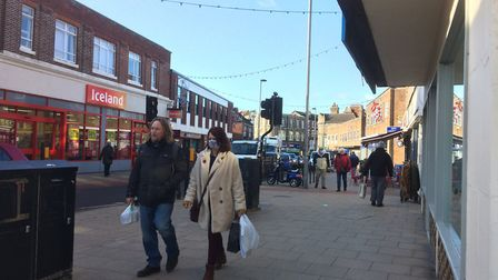 People out and about in Cromer on the last dya before the November lockdown. Picture: staff