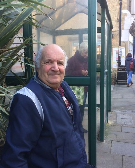 Charlie Gold, 71, who was out in Cromer on Wednesday November 4, before lockdown. Picture: Staff