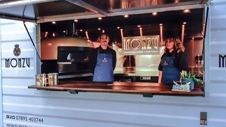 Darren and Claire Cameron from Horning have launched their Monzu Wood Fired Pizza food van. Picture: