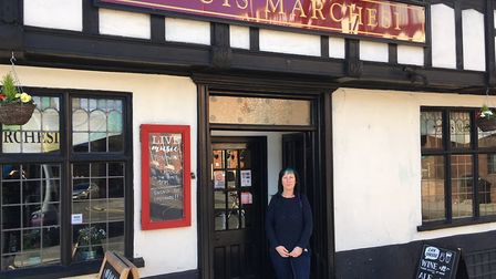 Owner of the Louis Marchesi pub in Norwich, Lisa Atkins. Picture: Jacob Massey