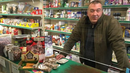 Ian Jackson of Sams Pets in North Walsham's Market Place said business had been quieter since the st