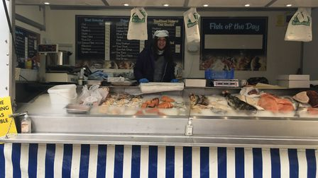 Sharon Karrigan, of Carmichels Fishmongers, which operates in North Walsham's Market Place on market