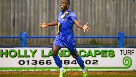 Jamar Loza scored two late goals against Woking last weekend Picture: Ian Burt