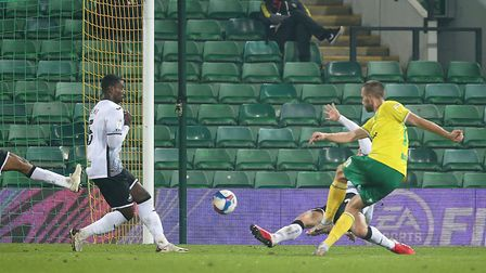 Marco Stiepermann's goal was the difference for Norwich City against Swansea City Picture: Paul Che