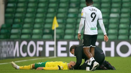 Max Aarons received treatment just before half-time. Picture: Paul Chesterton/Focus Images Ltd