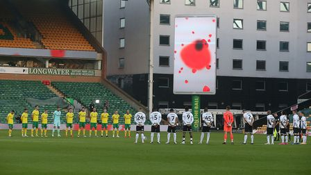 Both sides observed a minutes silence prior to kick off to pay their respects ahead of Remembrance D