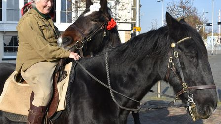 Sue Day attended the unofficial remembrance event at Lowestoft war memorial on the morning of Sunday