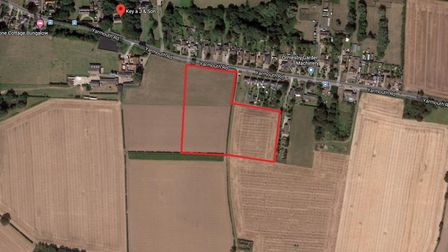 Lowestoft-based Badger Building wants to build 71 houses off Yarmouth Road in Ormesby. Picture: Goo