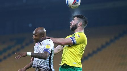 Grant Hanley helped the Canaries keep a clean sheet against Swansea Picture: Paul Chesterton/Focus I