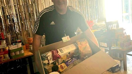 Food boxes being delivered to vulnerable members of the community across Waveney. Credit: Coming Tog