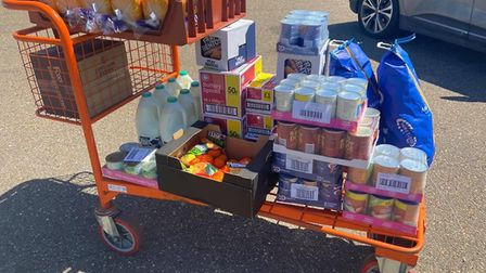Food deliveries sent out by Coming Together during the first national lockdown. Credit: Coming Toget