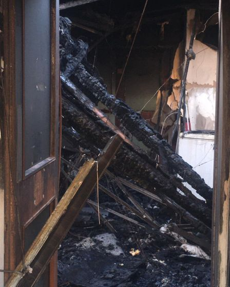 The aftermath of the fire at Abbeville Lodge care home in Great Yarmouth. Photo: Submitted
