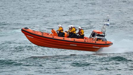 The CromerRNLI in-shore lifeboat in action. Picture: Ellis Usher