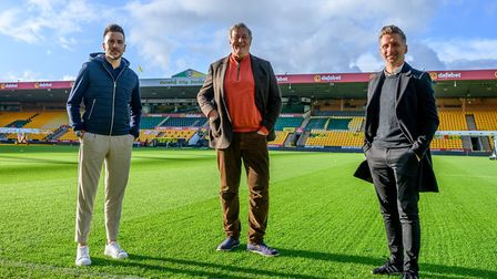 Stephen Fry took part in a Norwich City podcast at Carrow Road around 'Challenging Stereotypes' with
