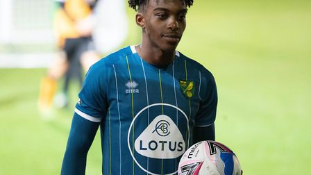 Tyrese Omotoye scored a hat-trick as Norwich City U21s won 5-0 at Newport County in the EFL Trophy P