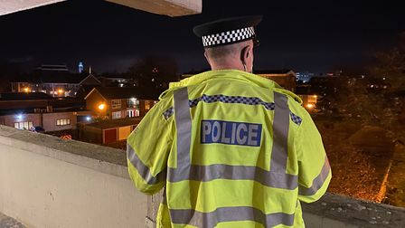 Norwich police carried out a number of searches of people and homes in Suffolk Square in Norwich. Pi