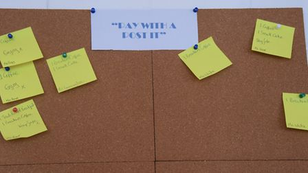 The 'pay with a post it' scheme, where customers can pay for food or an extra coffee for someone els