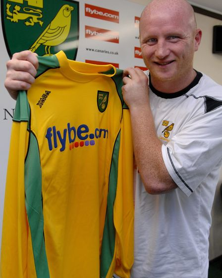 John Hartson arrives at Norwich City Picture: Archant