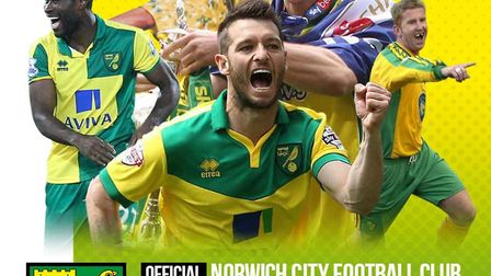 The front cover of the new Norwich City sticker book. Picture: Archant