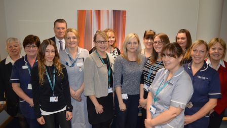The Norfolk Diabetes Prevention Study team when the 10,000 participant was recruited. Picture: NDPS