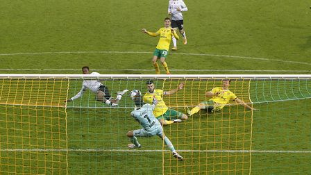 Tim Krul's save from Swansea's Jamal Lowe was the best of the lot in a fine performance Picture: Pau