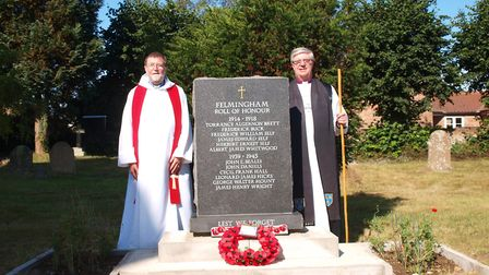 The war memorial at Felmingham, which has only now just been paid off, was dedicated in 2018. Pictur