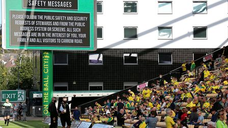 Up to 1,000 fans were allowed in to Carrow Road for the home game against Preston, but it didn't las