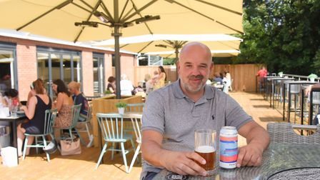 Marcus Pearcey on the terrace at the new Blofield Cafe at the Oaklands Hotel. Picture: DENISE BRADLE