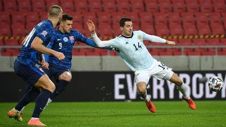 Kenny McLean in action for Scotland in Slovakia Picture: PA