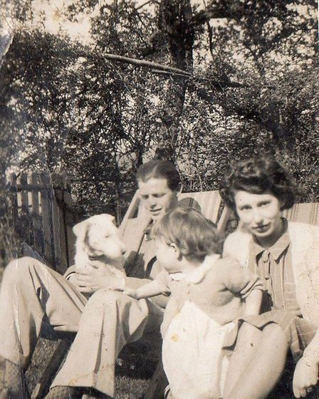 Jack Ottaway, his wife Barbara and daughter Virginia. Jack was killed when the bomber he was flying